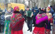 «Серебряные» волонтёры приняли участие в городской Масленице
